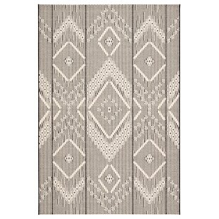 Valmar Tribal Gray/Beige Indoor/Outdoor Area Rug