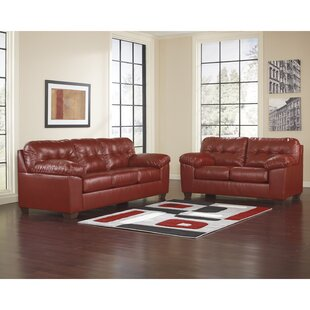 Red Leather Living Room Sets Youll Love Wayfair