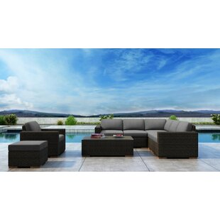 Everly Quinn Glen Ellyn 8 Piece Sectional Set with Sunbrella Cushion