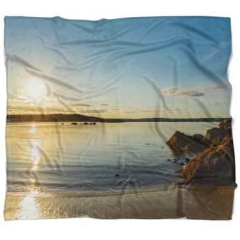 East Urban Home Seascape Tranquil Watercolor Waters Blanket Wayfair