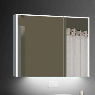 Alborghus 31.5 x 27.75 Surface mount Medicine Cabinet with LED Lighting by Orren Ellis