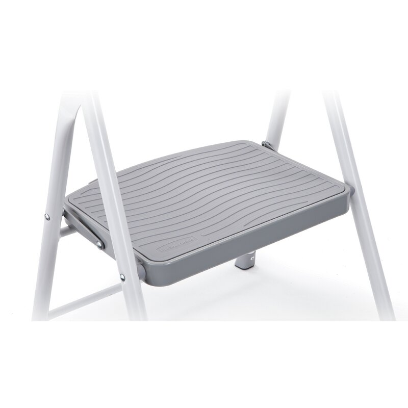 1-Step Steel Step Stool with 225 lb  Load Capacity