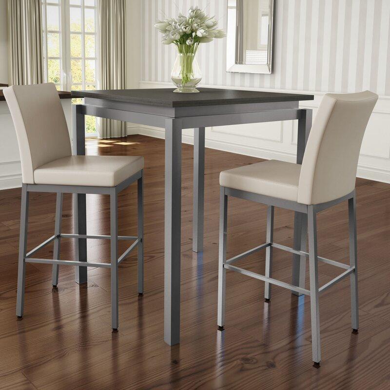 bar table and stool set latitude run wilma 3 piece pub table set u0026 reviews wayfair