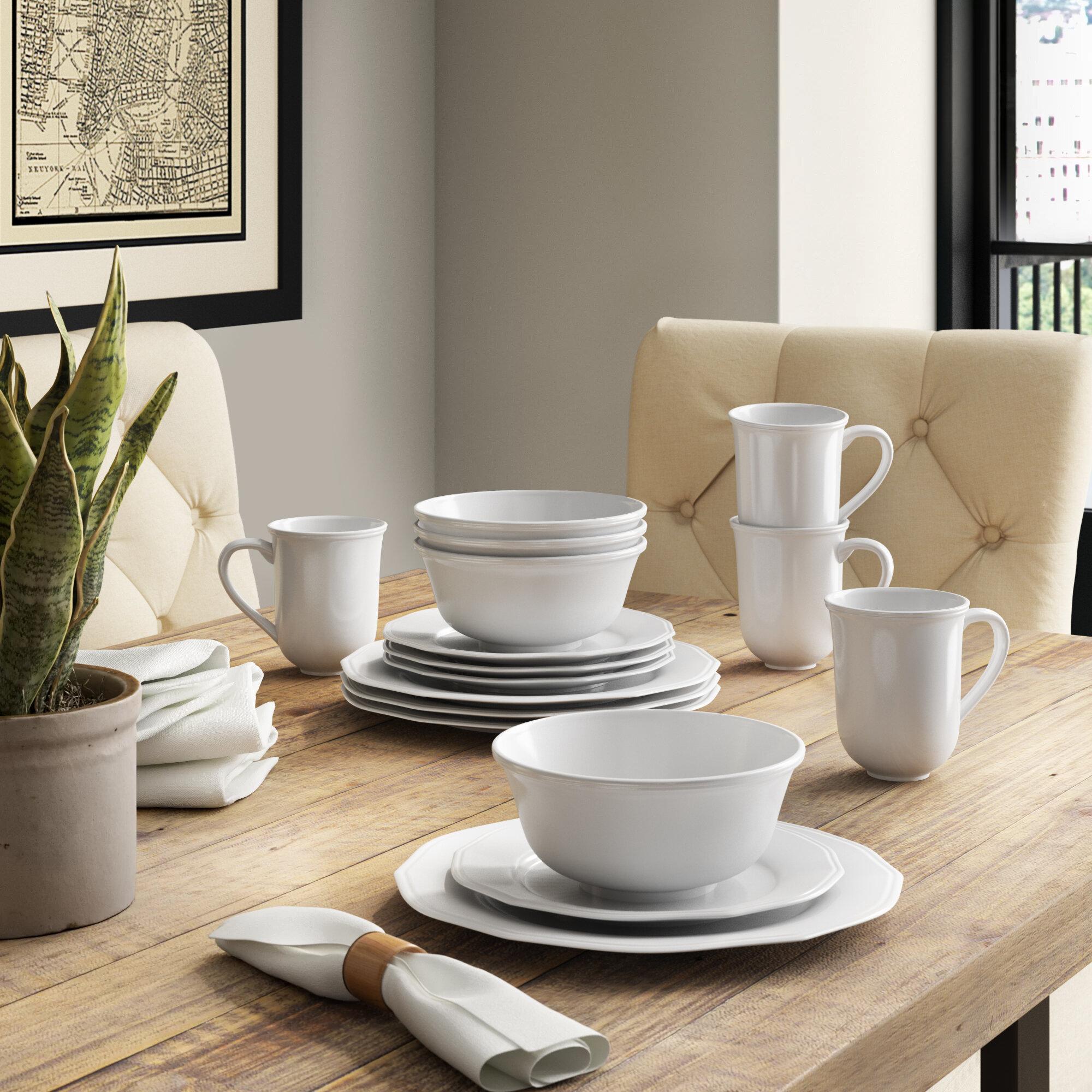Dix 16 Piece Dinnerware Set Service For 4 Reviews Birch Lane