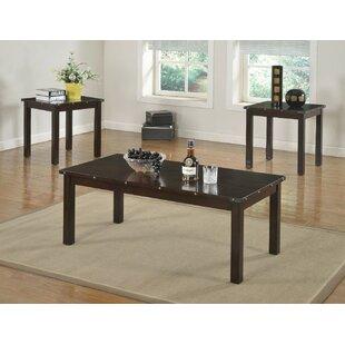 Williston Forge Mckinnie Retro Wooden 3 Piece Coffee Table Set