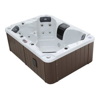 Halifax Se 22-Jet Plug And Play Hot Tub With Waterfall By Canadian Spa Co