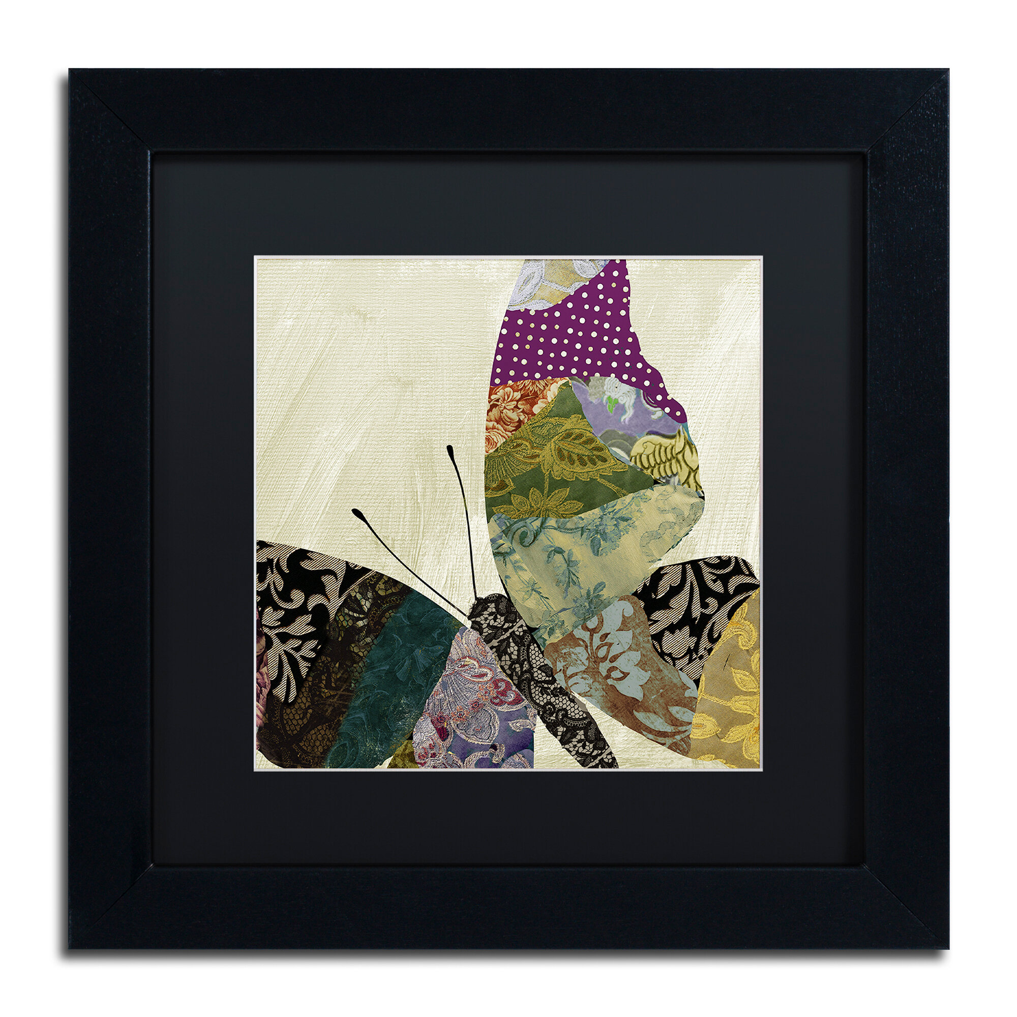 Trademark Art Butterfly Brocade I By Color Bakery Framed Graphic Art Wayfair