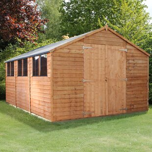 10 Ft. W X 15 Ft. D Solid Wood Garden Shed By WFX Utility