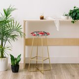 Marta Barragan Camarasa Big Watercolor Flowers 28 Bar Stool by East Urban Home