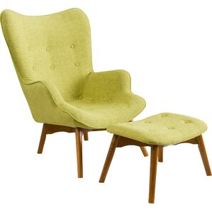 Great Canyon Vista Mid Century Wingback Chair And Ottoman