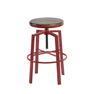 Creekmont Adjustable Height Swivel Bar Stool Beachcrest Home
