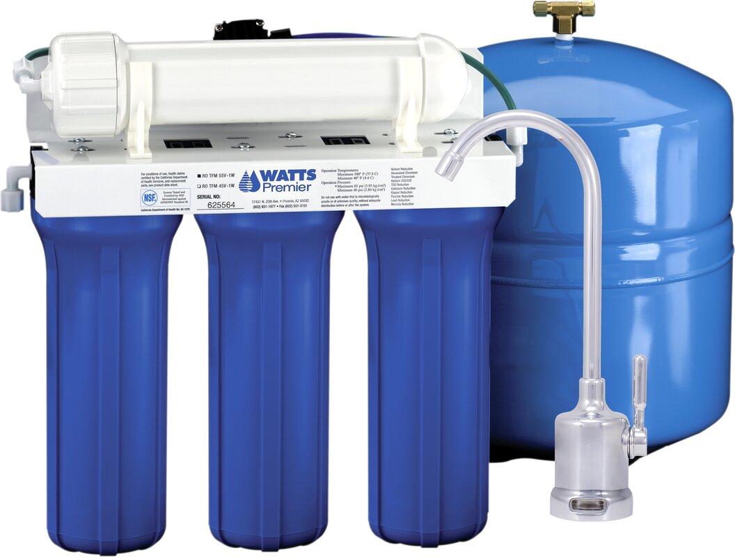 Watts Premier Five Stage EPA / ETV Verified Reverse Osmosis System ...