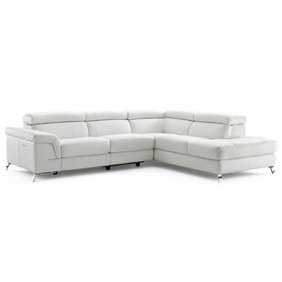 Compare prices Oakfield Leather Reclining Sectional by Wade Logan Reviews (2019) & Buyer's Guide