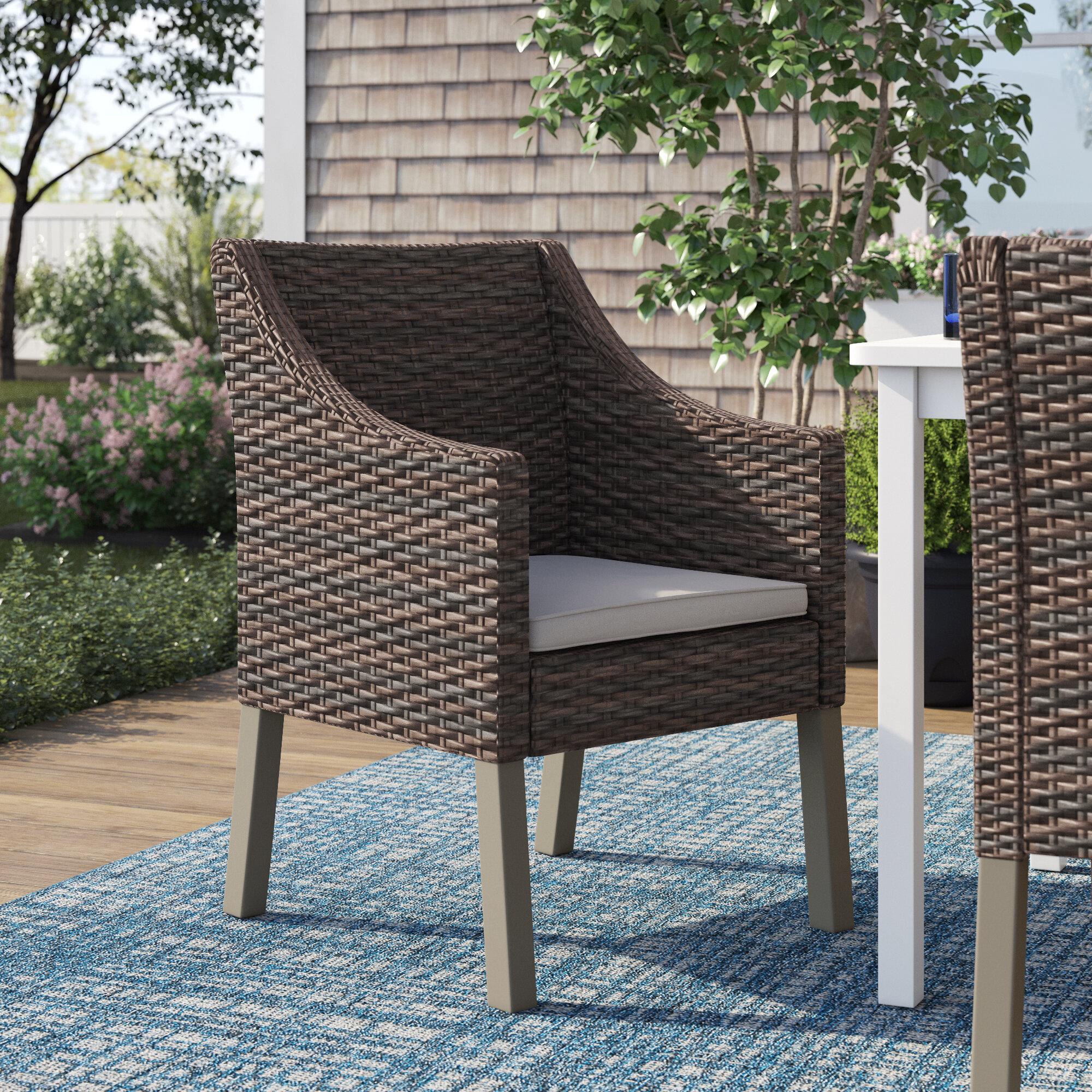 Sol 72 Outdoor Portola Outdoor Wicker Patio Dining Chair Reviews Wayfair