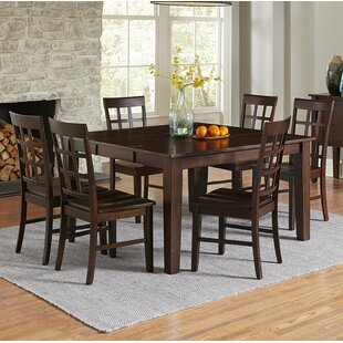Upshaw 7 Piece Extendable Solid Wood Dining Set