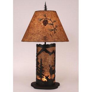 Gonzalez Deer Scene 32 Table Lamp