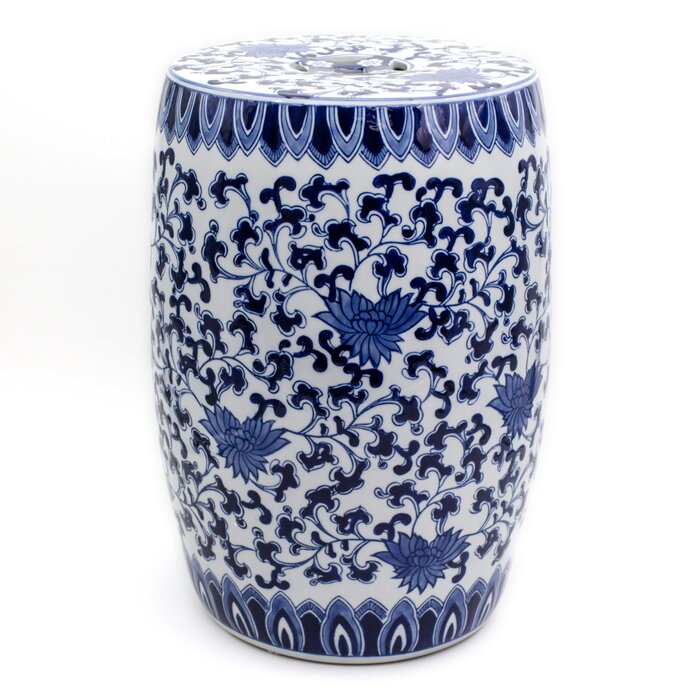 Groovy Angela Blue Lotus Garden Stool Machost Co Dining Chair Design Ideas Machostcouk