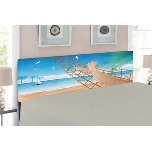 Hawaiian Tropical Beach Upholstered Panel Headboard by East Urban Home