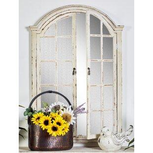 Antique White Wood Mirror Wayfair