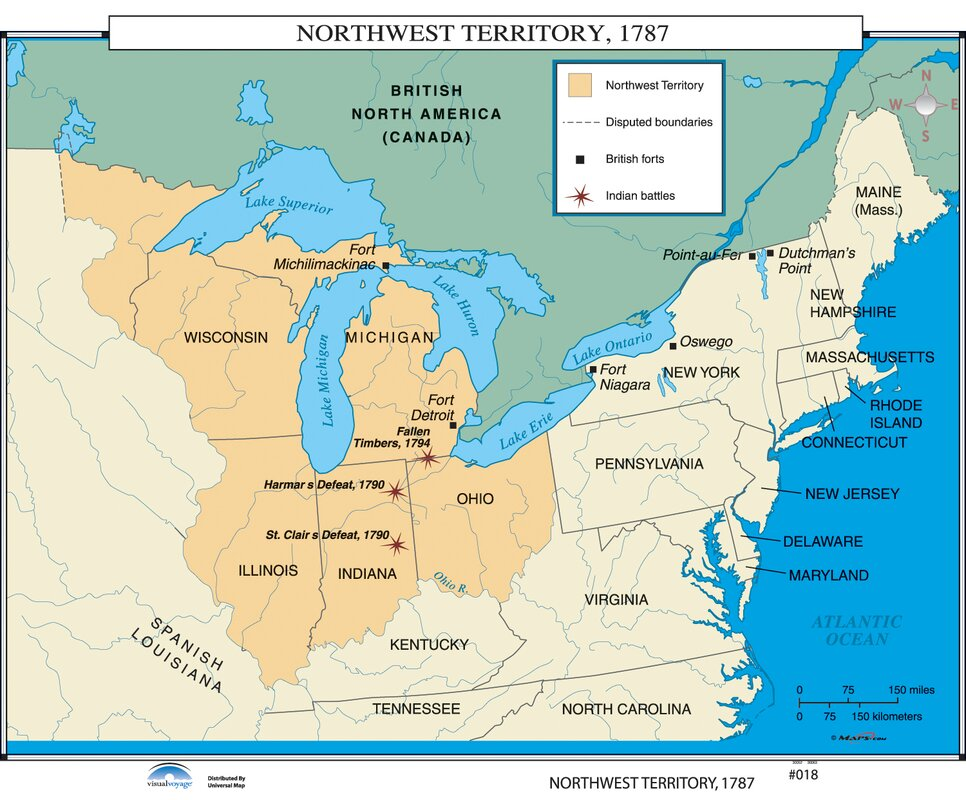 Universal Map US History Wall Maps Northwest Territory - Us history map