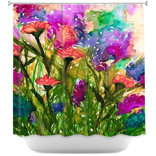 Luman Floral Insurgence II Single Shower Curtain