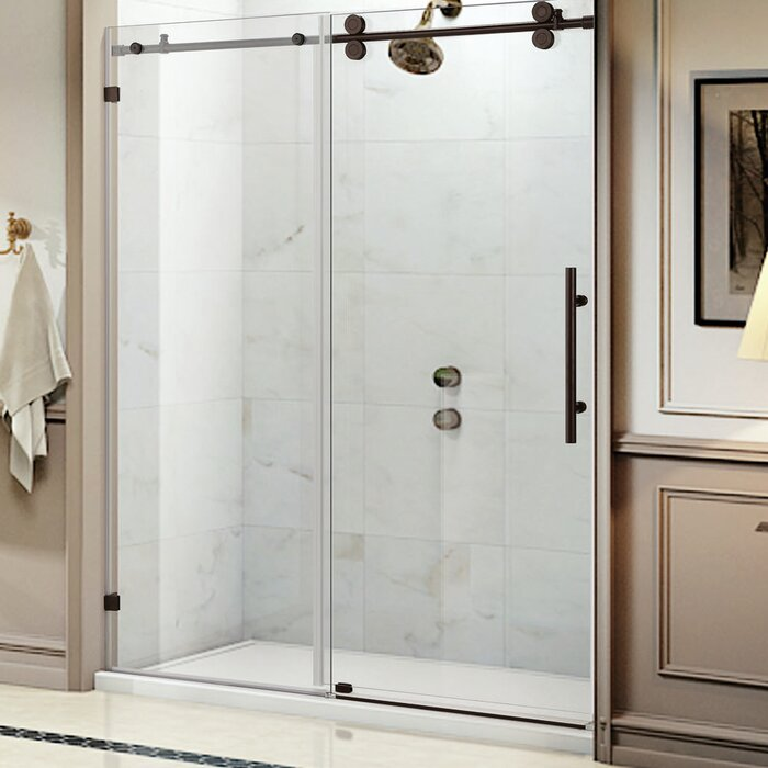 Wet Republic Equinox 60 X 62 Single Sliding Frameless Shower