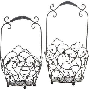 2-Piece Metal Basket Set By Brambly Cottage