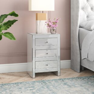 Hessle 3 Drawer Nightstand by House of Hampton