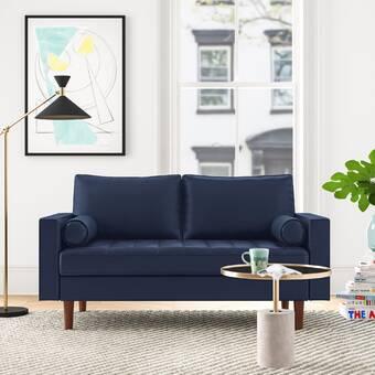 Darby Home Co Melra Geometric Print Wing Loveseat Wayfair