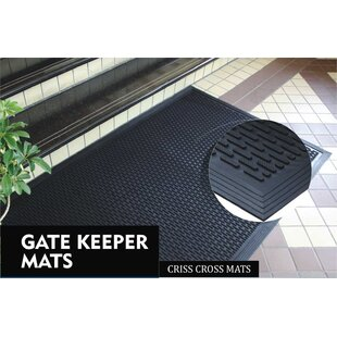 Rubber Gate Keeper Criss-Cross Non-Slip Stair Tread by Elite Home Collection