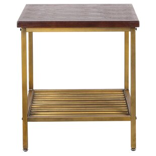 Reviews Huntley End Table by Williston Forge