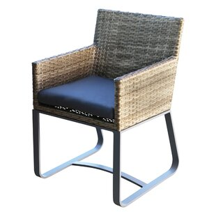 Topping Patio Dining Chair with Cushion (Set of 2)