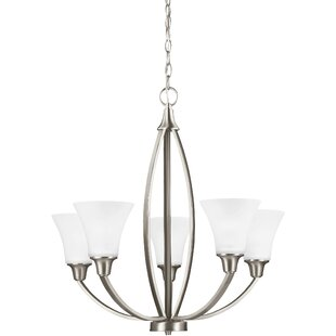 Irvona 5-Light Shaded Chandelier by Darby Home Co