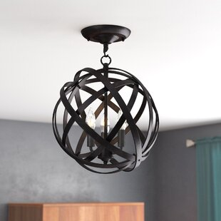 Nilsa 3-Light Semi Flush Mount by Ivy Bronx