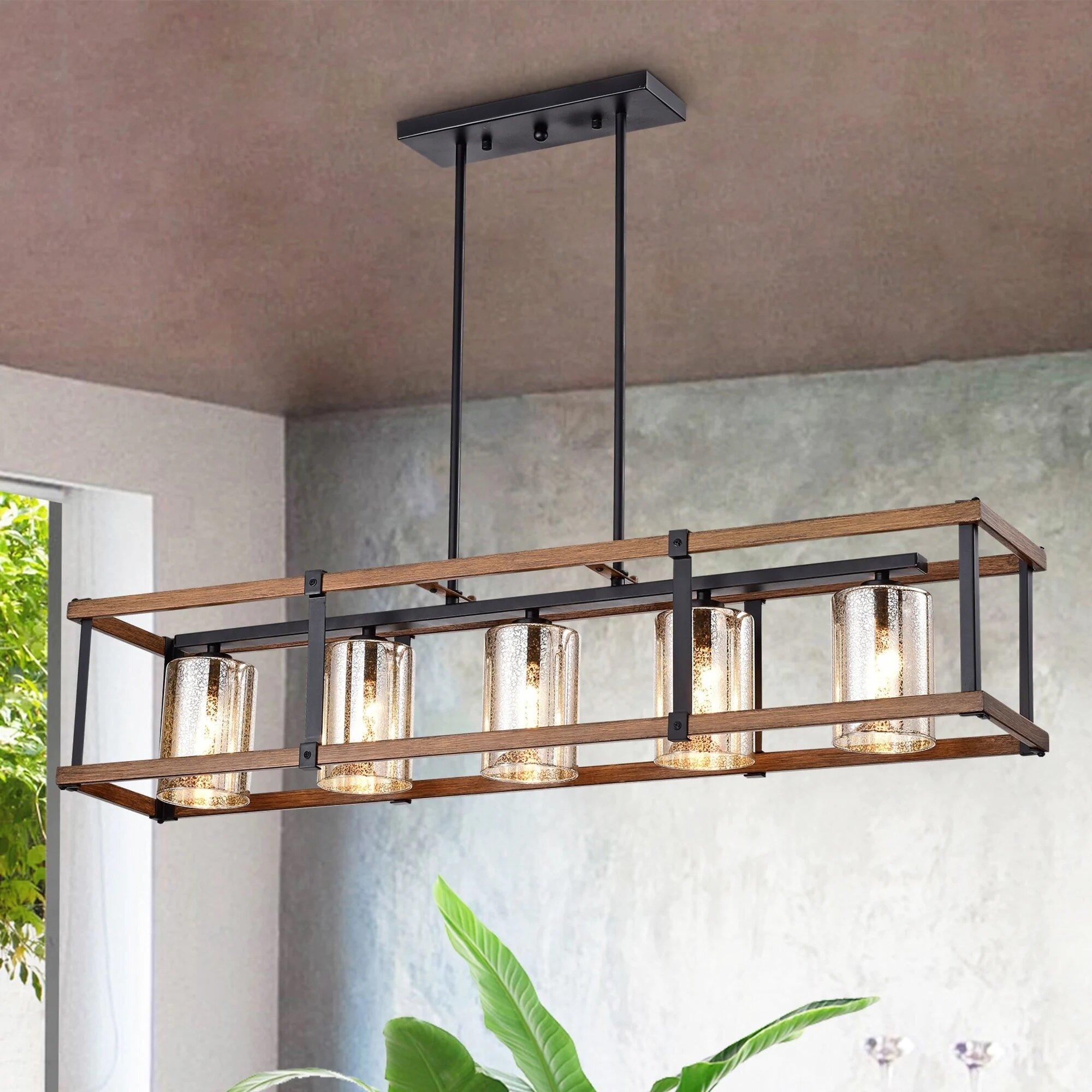 Gracie Oaks Laplante 5 Light Kitchen Island Linear Pendant Reviews Wayfair