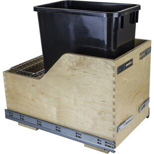 Hardware Resources Solid Wood 8.75 Gallon Open Pull Out/Under Counter Trash Can