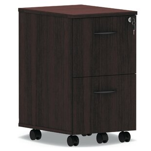Alera Valencia Series Pedestal 2-Drawer Mobile Vertical Filing Cabinet