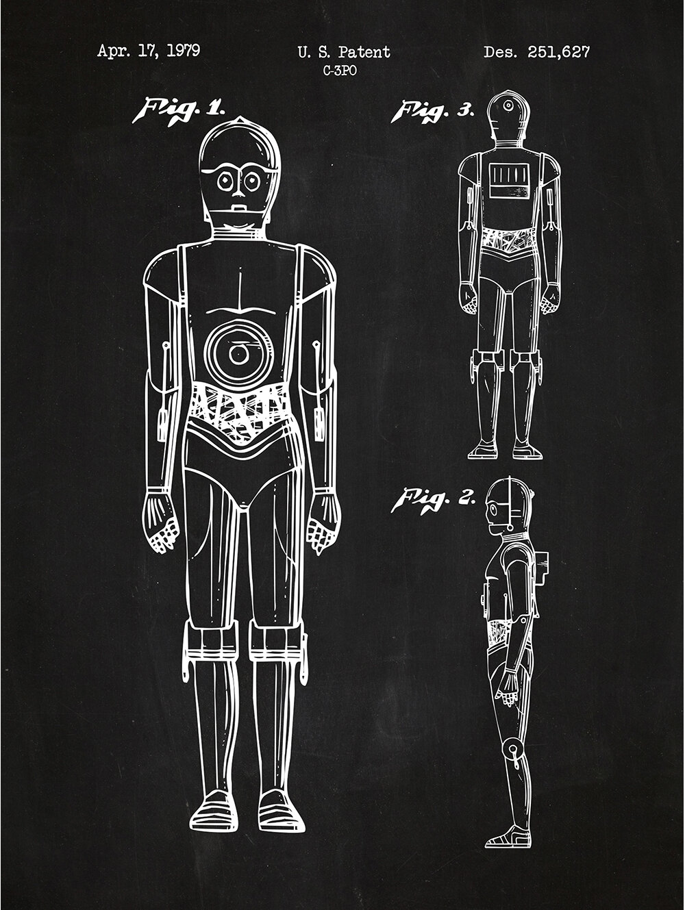 inked and screened sci fi and fantasy star wars characters c 3po