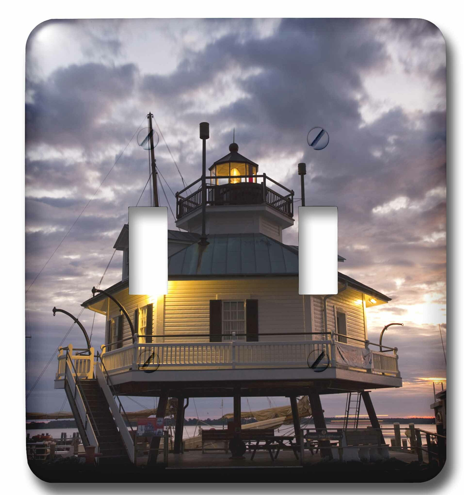 3drose Chesapeake Bay Hooper Straight Lighthouse 2 Gang Toggle Light Switch Wall Plate Wayfair