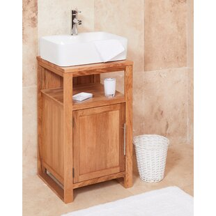 Gagne Solid Oak 46mm Free Standing Vanity Unit By Ebern Designs