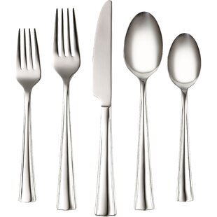 Coordinates Ruth 20 Piece Stainless Steel Flatware Set, Service for 4