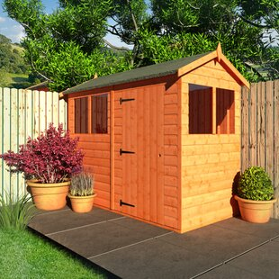Tiger 4 Ft. W X 8 Ft. D Tongue And Groove Reverse Apex Wooden Shed By Tiger Sheds