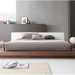 Orren Ellis Pollard Faux leather Upholstered Platform Bed