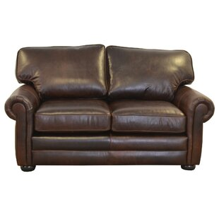 Fenway Studio Leather Loveseat by Westlan..