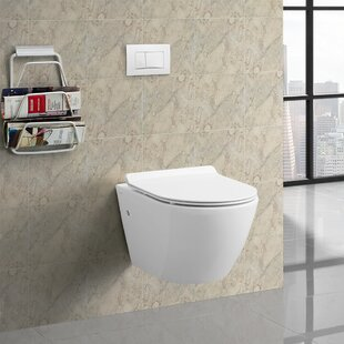 Sublime® Dual Flush Wall Hung Toilet (Seat Included) By Swiss Madison