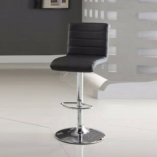 Ashar Armless Adjustable Height Swivel Bar Stool