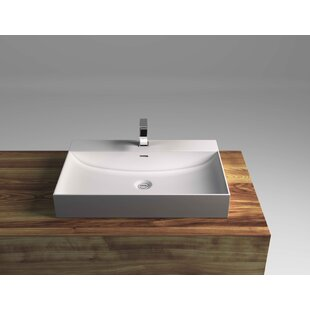 Coupon Rectangular Vessel Bathroom Sink with Overflow By Cantrio Koncepts