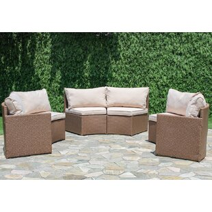 Sturbridge Curved Sectional With Cushions by Bay Isle Home Design