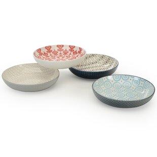 Cleaver 4 Piece Pad Print Dining Bowl Set