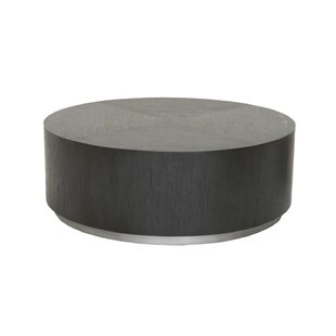 Thad Wood and Metal Low Profile Coffee Table by Orren Ellis